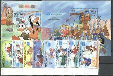 Walt Disney, Ameripex - Malediven - 1175-1182, Bl.118-119 ** MNH 1986