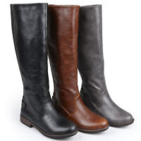 Journee Collection Womens Stretch Knee High Wide Calf Riding Boots New