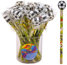 24 Football Pencils With Eraser Tops - Brand New Wholesale Pocket Money Toys