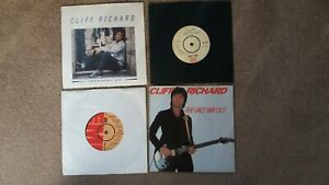 """Cliff Richard - 4 x 7"""" Singles - Remember Me, The Only Way Out + 2 others"""