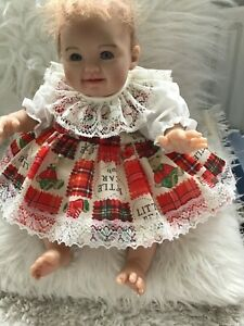 CLOTHES FOR BAby 0-3mths.  Little bear  Spanish two  piece  Dress Set