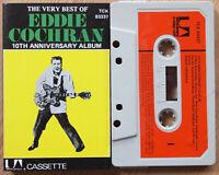 EDDIE COCHRAN - VERY BEST 10th ANNIVERSARY (UA TCK83337) 1970s UK CASSETTE TAPE