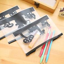 Transparent PVC Cute Animals Waterproof Stationery Pencil Case Makeup Bag #r