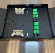 Wall Mount 24 Port Scapc Singlemode Fiber Optic Patch Panel - (Crs) - Black