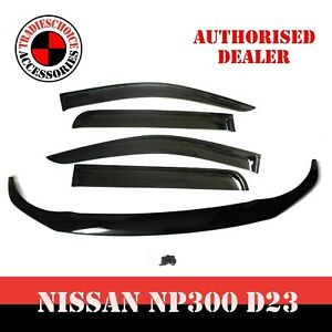 For Navara NP300 D23 Bonnet Protector Guard and Weather Shields Visors 2014-2020