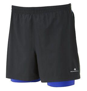 Ronhill Trail Cargo Twin Shorts - 01197 - Black/Cobalt R400 - Size Choice - BNIP