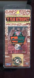 1994 Pinnacle 75 Year Retrospect Miami Dolphins Football Pin Pin-Card Card