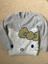 Girl M&S Hello Kitty sparkly Fluffy jumper  4-5 years