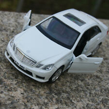 """5"""" Mercedes-Benz E63 Alloy Diecast Car Model White Two doors can open ToysGifts"""
