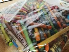 1+ Pound Lot Broken Used Mixed Color Crayons Crafting