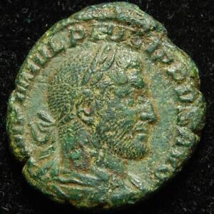 Philip I Arab AE as FELICITAS TEMP S C, Rome mint 245AD - RIC 169b - scarce