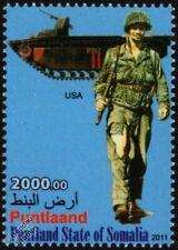 WWII US Marine Uniform Stamp / Landing Vehicle Tracked LVT-2 Water Buffalo