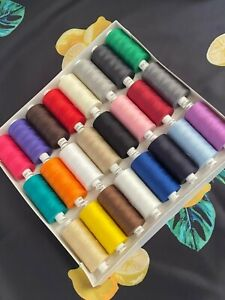 Coats moon thread polyester 120s -cotton sewing hand machine 1000y x24 assorted