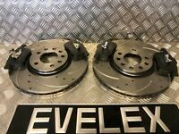 FRONT DRILLED & GROOVED DISCS & PADS SAAB 93 OPEL VAUXHALL SIGNUM VECTRA C 314mm