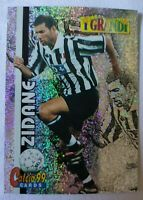 RARA CARD ZINEDINE ZIDANE JUVENTUS CALCIO 99 CARDS G4 I GRANDI PANINI ADRENALYN