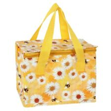 'Daisy & Bee' Insulated Lunch Bag, Bright Yellow Cooler Bag, Packed Lunches