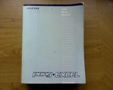 1991 Hyundai Excel / Pony FACTORY WORKSHOP / SERVICE, REPAIR MANUAL, book