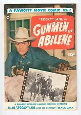 Fawcett Movie Comic #7 ROCKY LANE in GUNMEN OF ABILENE - FN 1950 vintage comic