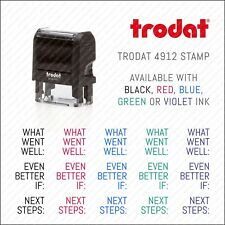 What Went Well Even Better If - Teacher School Rubber Stamp Trodat 4912 SKU0361