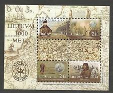 Lietuva Litauen MNH 2006 Mi 909-912 block 33 Sc 816a-d Millennium of Lithuania