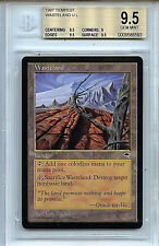 MTG Tempest Wasteland BGS 9.5 Gem Mint Card  6593