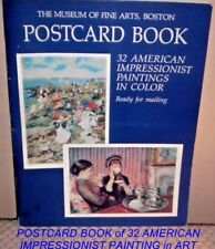 1985 Museum of Fine Arts Post-Card Book: Thirty-Two American Impressionist...