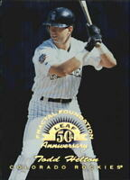 1998 Leaf Fractal Foundations #184 Todd Helton GLR /3999 - NM-MT