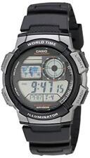 Casio Men's Quartz Analog-Digital Black Resin Band 44mm Watch AE1000W-1B