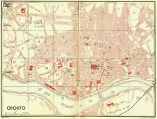 PORTUGAL. Oporto 1929 old vintage map plan chart