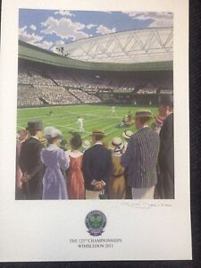 Wimbledon Tennis Championships A4 Poster From The 125th Championships Brand New