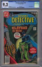 Detective Comics #478 CGC 9.2 NM- Wp Batman Vs. Clayface DC Comics 1978 Rogers