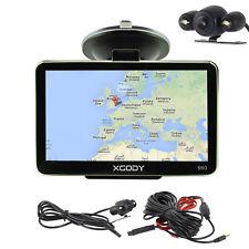 XGODY 5'' GPS Navigation SAT NAV Bluetooth Reversing Camera LED Night Vision