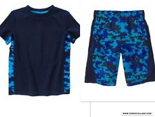 New Gymboree Gymgo Activewear Shorts & Top Camo Techno Print Outfit Size S 5/6