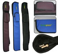 Luxury Eurospeed Snooker Billiard Pool Soft Cue Case for 2 Piece Cue 50/50