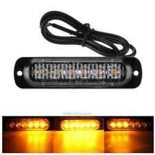 Amber 6 LED Grille Bar Car Truck Strobe Flash Emergency Warning Light 12V-24V