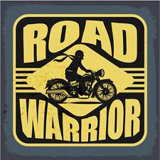 "Road Warrior Motorcycle Car Bumper Sticker Decal 5"" x 5"""