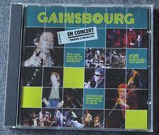 Serge Gainsbourg, en concert theatre le palace 80, CD