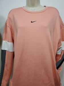 NIKE Women Therma NEW Active Wear Fleece pullover shirt sweatshirt top XXL Peach