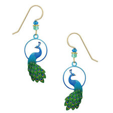 Sienna Sky Enchanted Peacock Pierced Earrings ~Made in Colorado, USA~