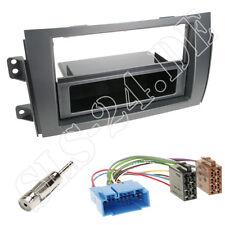 Suzuki SX4 EY/GX Doppel 2-DIN Radio Blende Autoradio + Fach ISO KFZ Kabeladapter