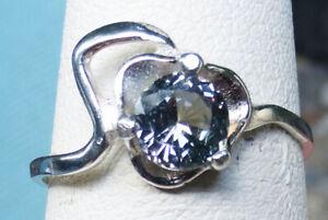 6mm Montana Sapphire Faded Denim Blue FEMININE Classy VVS AUTHENTIC sz.7 ring