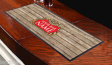 PERSONALISED BEER LABEL WOOD Bar Towel Runner Pub Mat Beer Cocktail Party Gift