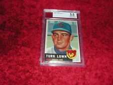 1953 Topps # 130 Cubs Turk Lown Graded 5.5 No, Qualifiers