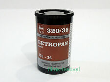 3 rolls FOMA Retropan 320 35mm 36exp Black and White Film 135-36
