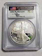 2006-W 1 Oz Silver $1 AMERICAN EAGLE John Mercanti's Signature PCGS PR69DCAM.