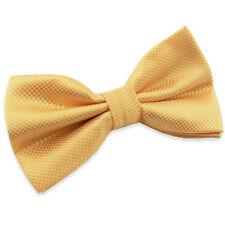 Noeud Papillon Jaune en soie mélangée pour Homme ou Femme - Silk Yellow Bow tie