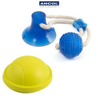 Ancol Suction Tugger Dog Toy Glider Ball Frisbee Tug of War Play Fetch