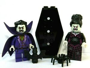 Lego Dracula Vampire Minifigure Spider Witch Bride & Coffin Halloween Monster
