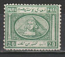 EGYPT 1867 SPHINX & PYRAMID 20PA NO GUM