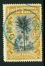 Belgian Congo 1896 15¢ Climbing Palm Tree VFU Y340